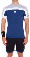 Męski T-Shirt Hydrogen Tech Skull T-Shirt - grey melange/blue melange