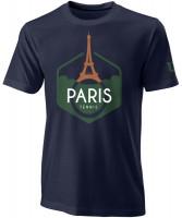 Męski T-Shirt Wilson M Paris Tech Tee - maritime blue