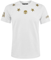Męski T-Shirt Hydrogen US Open Stars T-Shirt - white/gold