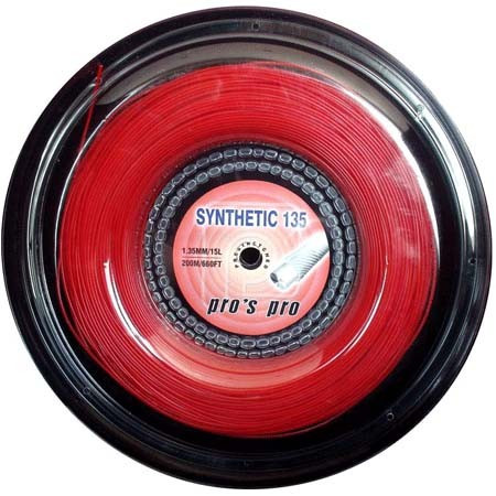Tennis String Pro's Pro Synthetic 135 (200 m) - red