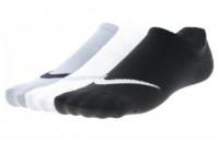 Nike Lightweight Train No Show 3P W - black/white/grey