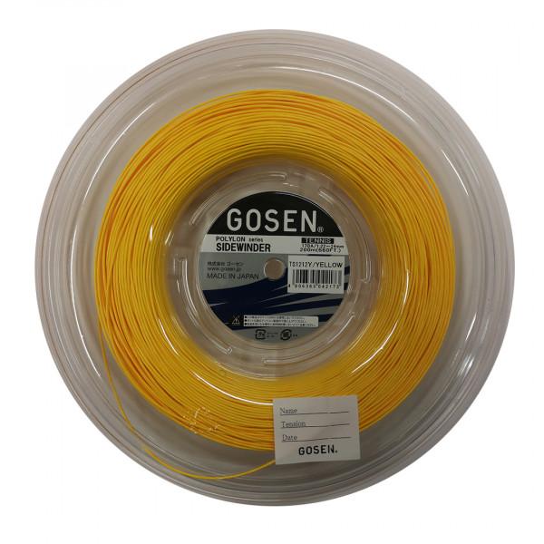 Tenisa stīgas Gosen Polylon Sidewinder (200 m) - yellow