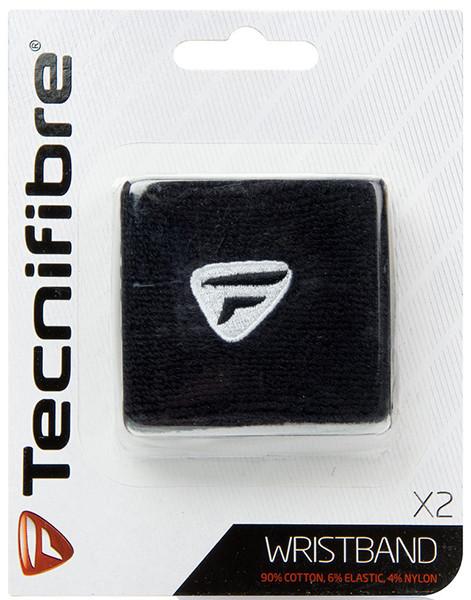 Riešo apvijos Tecnifibre Wristband (2 szt.) - black