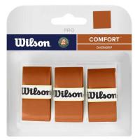 Wilson Pro Overgrip Roland Garros (3 vnt.) - brown
