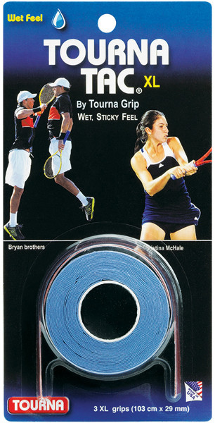 Owijki tenisowe Tourna Tac XL (3 szt.) - blue