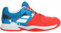 Juniorskie buty tenisowe Babolat Pulsion All Court Junior - tomato red/blue aster
