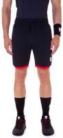 Męskie spodenki tenisowe Hydrogen Reflex Tech Shorts - black/red