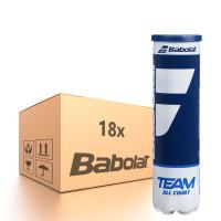 Tenisa bumbiņas kartona kastēs Babolat Team All Court - 18 x 4B