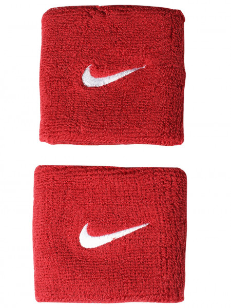 Aproces Nike Swoosh Wristbands - varsity red/white