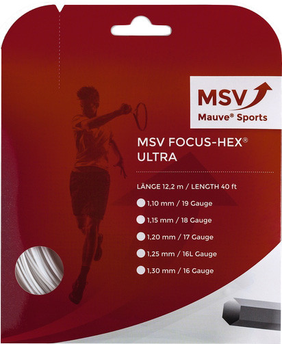 Tennisekeeled MSV Focus Hex Ultra (12 m) - white