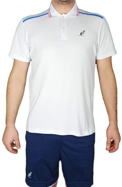 Muški teniski polo Australian Technical Piquet Polo with Print - bianco