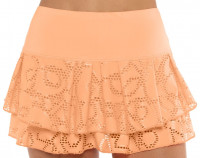 Teniso sijonas moterims Lucky in Love Eyelet Go Lace Pleat Tier Skirt Women - orange frost