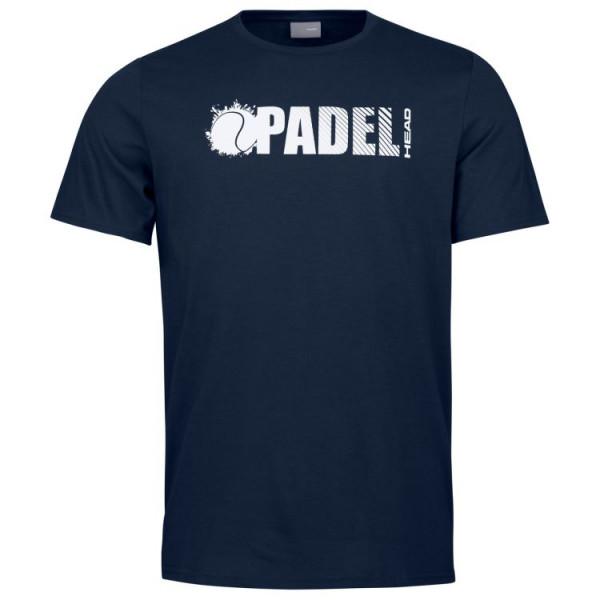 Teniso marškinėliai vyrams Head Padel Font T-Shirt M - dark blue