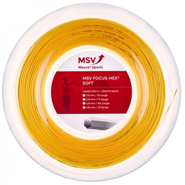 Tennisekeeled MSV Focus Hex Soft (200 m) - yellow