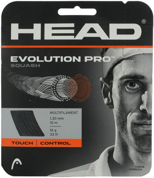 Skvošo stygos Head Evolution Pro (10 m) - black