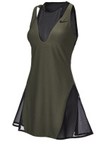Damska sukienka tenisowa Nike Court Women Maria Dress New York -  medium olive/black/black
