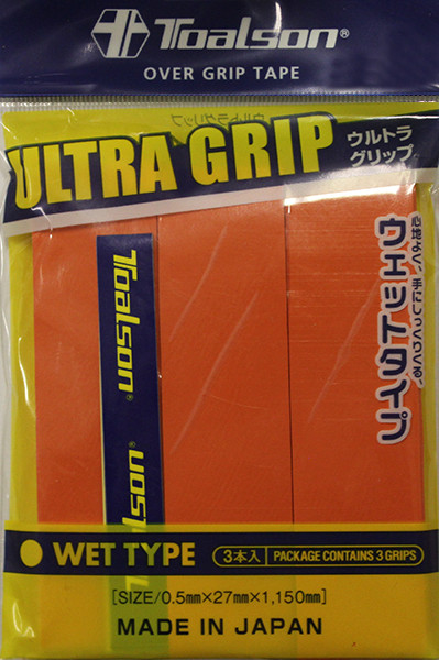 Tenisa overgripu Toalson UltraGrip 3P- orange