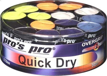 Owijki tenisowe Pro's Pro Quick Dry New 30P - color