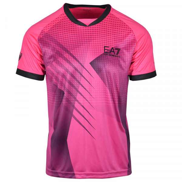 Męski T-Shirt EA7 Man Jersey T-Shirt - pink fluo