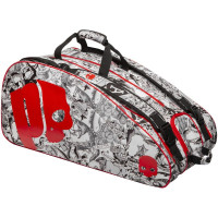 Torba tenisowa Prince By Hydrogen Tattoo Racquet Bag - black/white/red