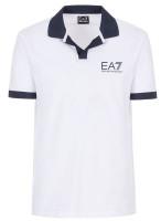 EA7 Man Jersey Polo Shirt - white