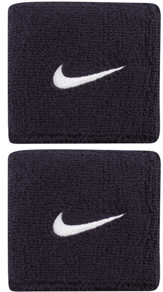 Frotki Tenisowe na nadgarstki Nike Swoosh Wristbands - obsidian/white