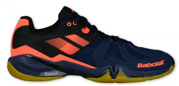 Buty do squasha Babolat Shadow Spirit Men - navy/blue/fluo orange