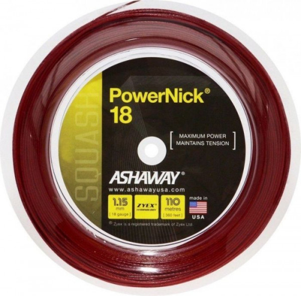 Naciąg do squasha Ashaway PowerNick 18 (110 m) - red
