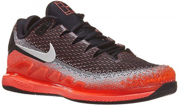 Męskie buty tenisowe Nike Air Zoom Vapor X Knit - black/white/dark grey/hot lava