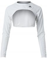 Moteriški marškinėliai Adidas W Tennis Shrug HEAT.RDY - white/copper metalic
