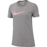 Nike Dry Tee DFC Crew W - carbon heather/heather/pink rise