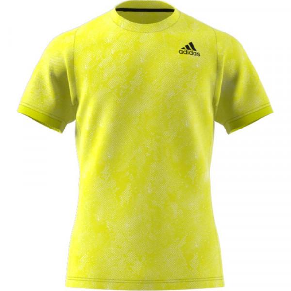 Męski T-Shirt Adidas Freelift Printed Primeblue Tee M - acid yellow/wild pine/white