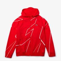 Męska bluza tenisowa Lacoste Men's SPORT French Open Hooded Zip Jacket - red/white