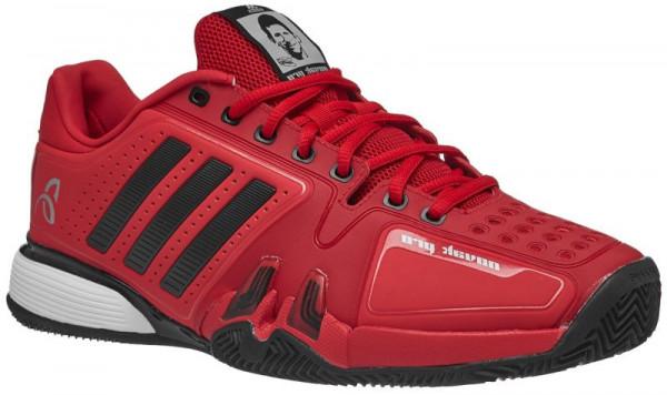 Męskie buty tenisowe Adidas Novak Pro Clay - real red/core black/white