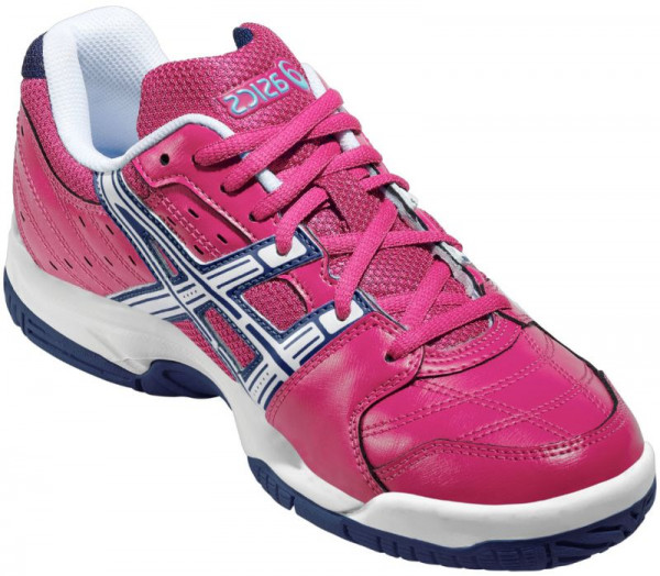 Junior squash shoes Asics Gel-Squad GS - magenta/white/indigo blue