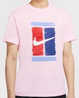 Teniso marškinėliai vyrams Nike Court M Tee Court - pink foam