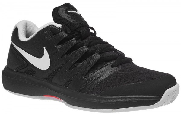 Męskie buty tenisowe Nike Air Zoom Prestige Clay - black/white/bright crimson