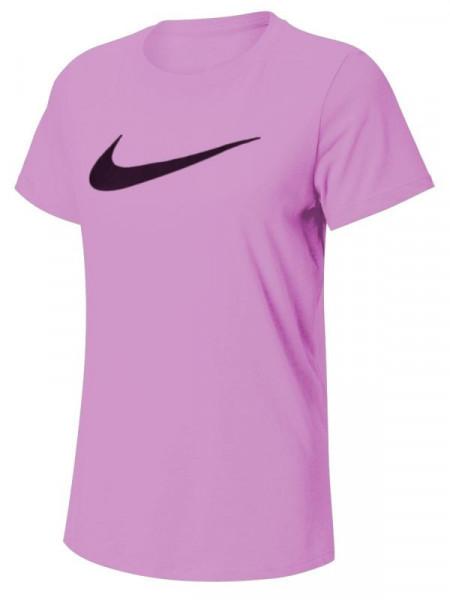 Damski T-shirt Nike Dry Tee DFC Crew W - violet pink/pink foam/black