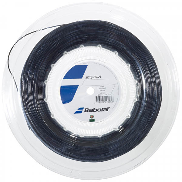 Tennisekeeled Babolat Spiraltek (200 m) - black