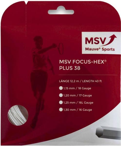 Tennisekeeled MSV Focus Hex Plus 38 (12 m) - white