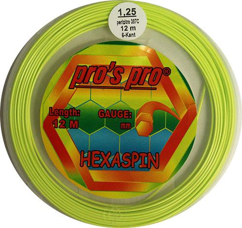 Teniso stygos Pro's Pro Hexaspin (12 m) - lime
