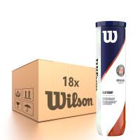 Karton piłek tenisowych Wilson Roland Garros Clay - 18 x 4 szt.