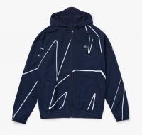 Męska bluza tenisowa Lacoste Men's SPORT French Open Hooded Zip Jacket - navy blue/white