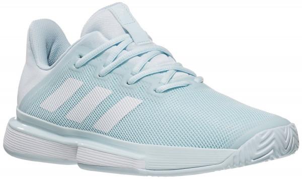 Damskie buty tenisowe Adidas SoleMatch Bounce W - sky tint/white/sky tint