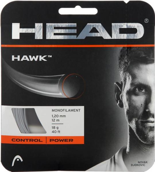 Teniso stygos Head HAWK 1,25 Grey (12 m) (Rekomenduojame)