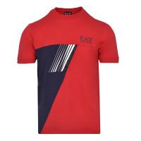 Męski T-Shirt EA7 Man Jersey T-Shirt - racing red