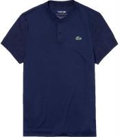 Męskie polo tenisowe Lacoste Men's SPORT Novak Djokovic Tech Jersey Polo - navy blue/navy blue