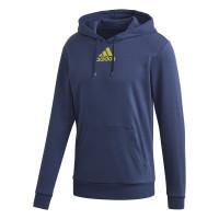 Męska bluza tenisowa Adidas Category Graphic Hoodie - tech indigo/shock yellow