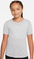 Majica kratkih rukava za djevojčice Nike Dri-Fit One SS Top G - smoke grey/white