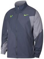 Męska bluza tenisowa Nike Court M Rafa Jacket - light carbon/volt glow